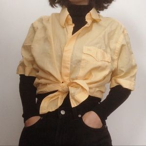 Yellow Burberry Gingham Shirt